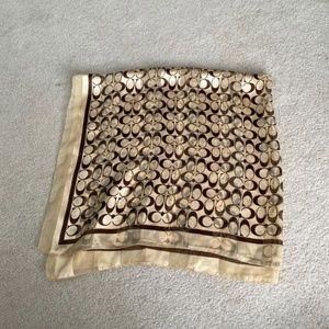 Coach silky scarf
